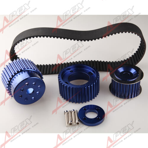 "12A 13B 20B 15mm RX7 FD FC RX3 Gilmer Drive Pulley Kit 1.5/"" Notch Belt Blue"