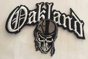 """VINTAGE IRON ON EMBROIDED PATCH OAKLAND RAIDERS 3/""""x 2 1//2/"""" Rare!"""