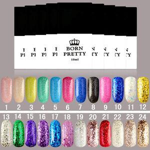 10ml-Born-Pretty-Nail-Art-Glitter-UV-Gel-polnischen-Einweichen-Off-langlebige-Lack