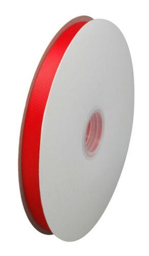 GROSGRAIN RIBBON RED LENGTHS APPROX 5M on Reel OR FULL ROLL 90M x 10mm