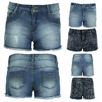 Hot Ladies Vintage Womens High Waisted  Denim Shorts Jeans Hot Pants Size 8-14