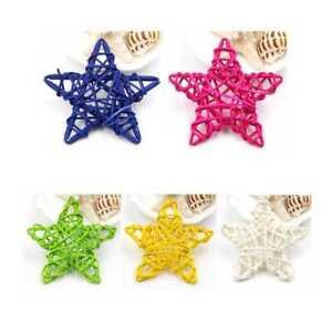 5Pcs-6CM-xmas-Decorations-Ornaments-Hanging-Christmas-Home-DIY-Rattan-Stars-Hot