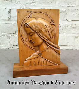 B2016275 - Panneau Religieux - Vierge En Bois CoûT ModéRé