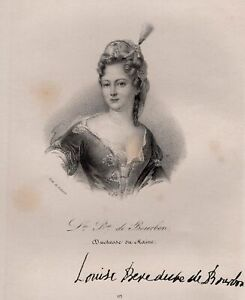 Portrait-of-Louise-Benedict-Bourbon-Duchess-of-Maine-Lithography-Orig
