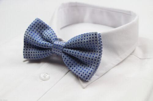 MENS LIGHT BLUE POLKA DOT BOW TIE Pretied Adjustable Tuxedo Formal Wedding SALE