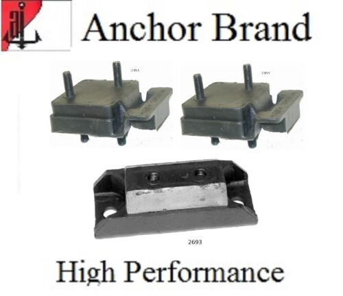 3 PCS Motor and Trans Mount Kit For Jeep Grand Wagoneer 5.9L 360 Eng 84-91