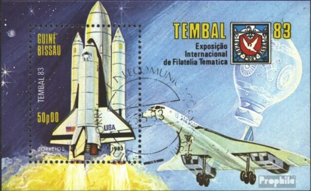 Guinea-Bissau block248 (complete issue) used 1983 TEMBAL ´83