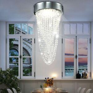 led 12w leuchte h nge l ster pendel decken bad lampe acryl kristall kronleuchter ebay. Black Bedroom Furniture Sets. Home Design Ideas