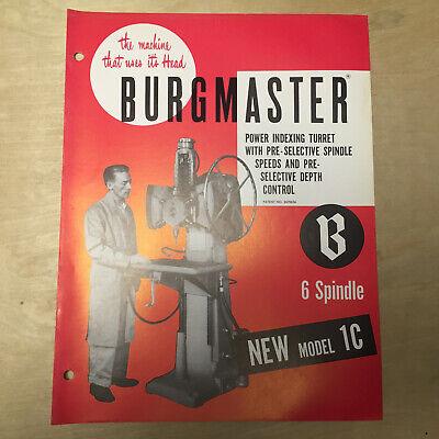 Burgmaster  2-A Turret Drill Service Manual 1951