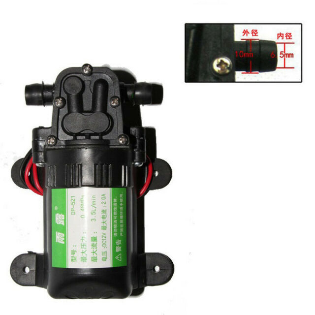 Ultra Quiet DC 12V Lift 5M 3 5L/Min Water High Pressure Diaphragm Spray Pump
