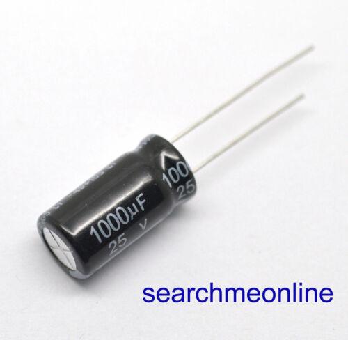 50 un condensadores electrolíticos 1000uF25V 25V1000uF 1000uF 25 V 10mmX20mm