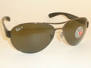 d760a9db12 New RAY BAN Sunglasses Gunmetal Frame RB 3509 004 9A Polarized ...