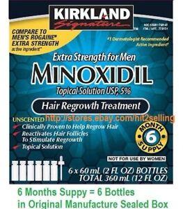 6 Months 5% Minoxidil Extra Strength For Men Hair Regrowth Treatment Kirkland!!