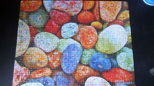 Cardinal 300-piece Jigsaw Puzzle - Colorful Sea Pebbles - Good Condition!
