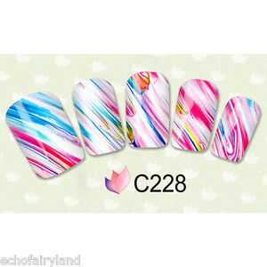 Nail-Art-Water-Transfer-Decal-Watercolor-Manicure-Decoration-C228-231