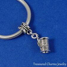 Silver 3D SPOOL OF THREAD Sewing Dangle Bead CHARM fits EUROPEAN Bracelet
