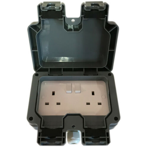 Jardin extérieur Extension Lead Socket Box IP65 Rated Câble 10 m
