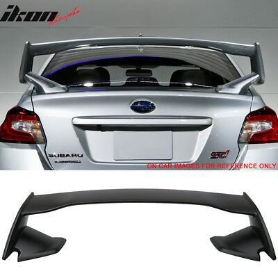 UNPAINTED For Subaru WRX STI 15-19 REAR TRUNK LIP SPOILER WING V Type
