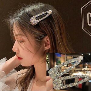 Fashion-shining-Crystal-Pearl-Alloy-Hair-clip-hair-pin-Bobby-Barrette-For-Women