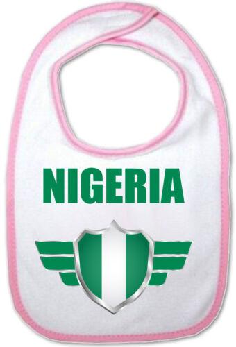 Bavoir Bébé rose Nigéria Coupe du Monde de Football 2018 naissance bavette