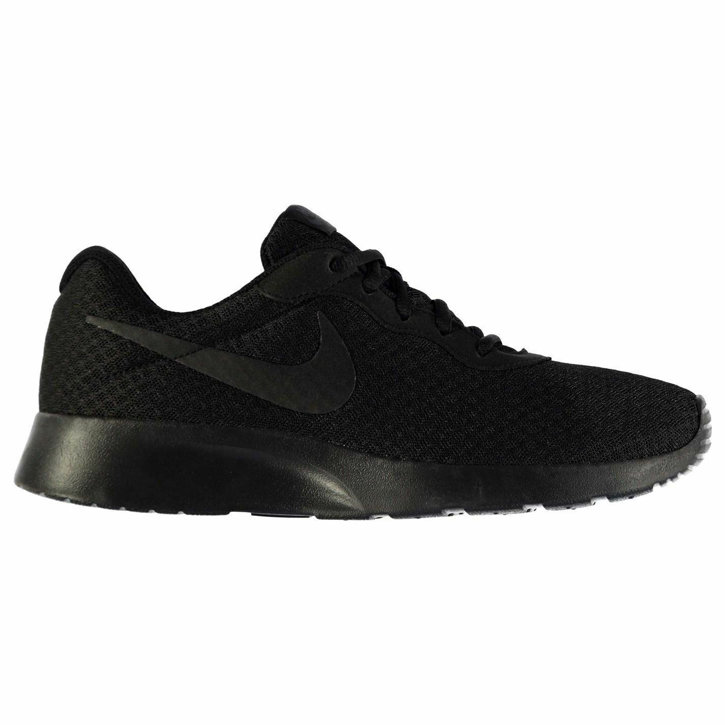 Nike Tanjun Trainers Mens Black Black Sports shoes Sneakers Footwear