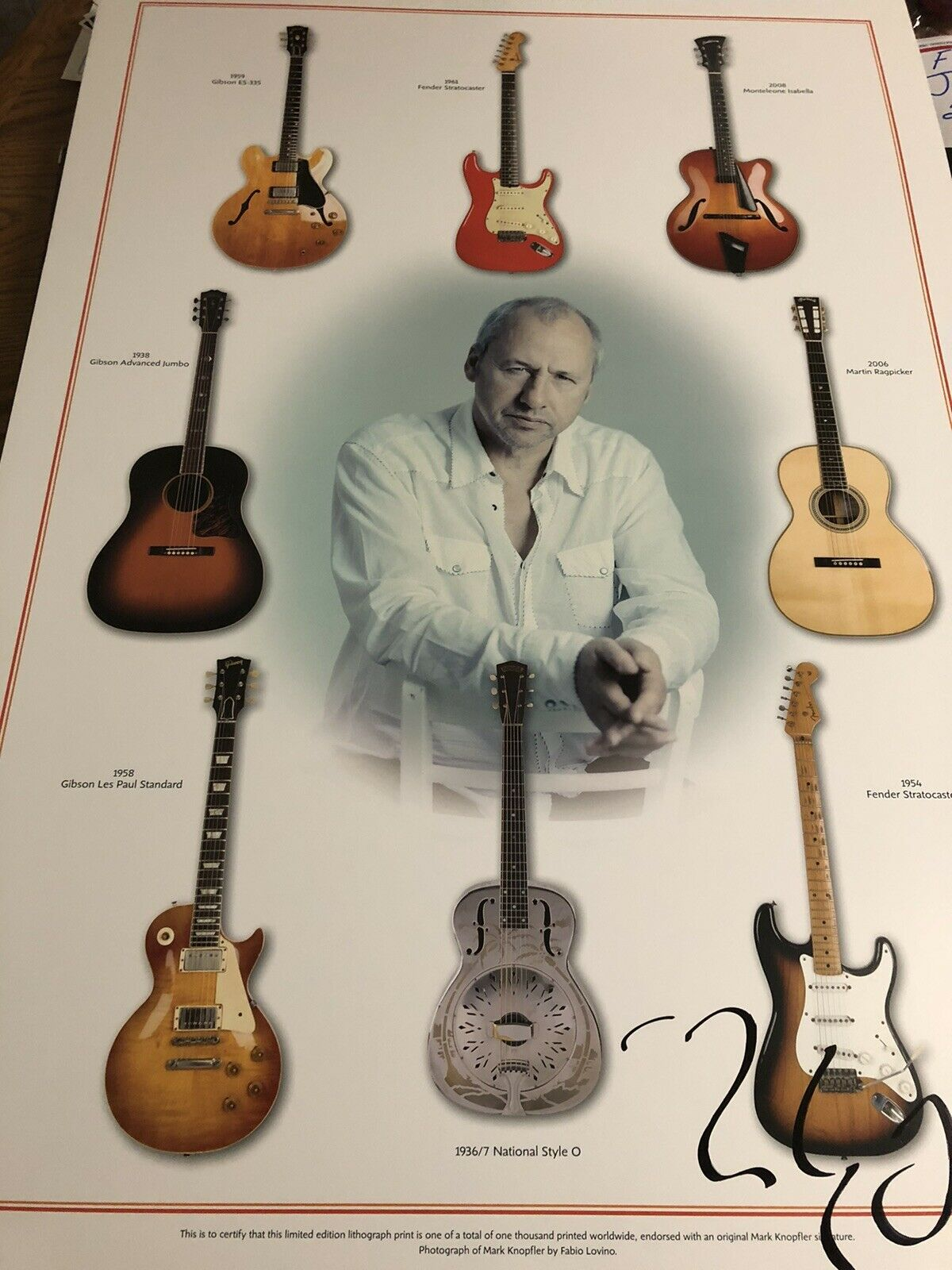 Autographed Mark Knopfler Lmtd Ed Concert Poster Signed Numbered Lithograph on eBay thumbnail