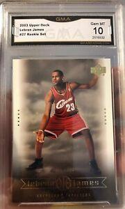 Lebron James Rookie Card 2003 Upper Deck Box Set 27 Gem Mint 10 Graded Lakers Ebay