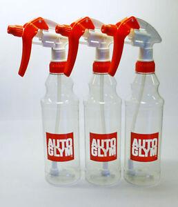AutoGlym-3-x-kalibrierte-Trigger-Spray-Flasche-500ml-Autopflege-FREE-P-amp-P