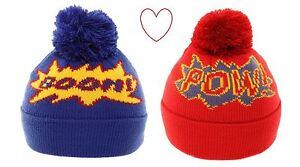 Boys-Childrens-Winter-Hat-Novelty-Beanie-Warm-Comic-Comfy