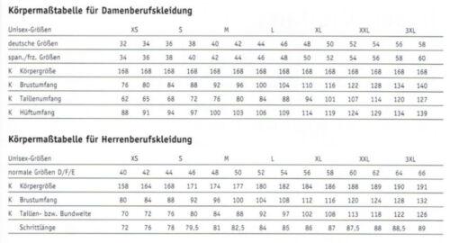 Leiber 12//2598 Herren Kochjacke Bäckerjacke langarm Bäcker Koch schwarz weiß