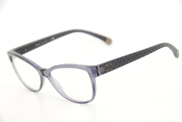 b0ff9c4698caa New Authentic Chanel 3322 c.1543 Clear Blue 55mm Frames Eyeglasses RX Italy