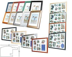 Bilderrahmen-Fotorahmen-Holz-von-10x15-40x50-cm-Passepartout-Glas