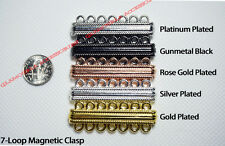 5 or 7 Loop Strand Strong Plated Magnetic Clasp Silver Gold Rose Platinum Black