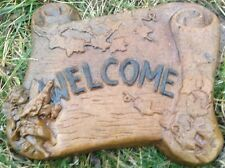 Stepping Stone Welcome 2, concrete mold, cement, plaster, mould