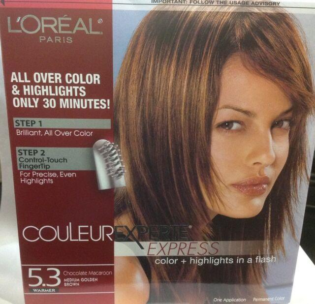 L'Oreal Couleur Experte Express Hair Color & Highlights Medium Golden Brown  #5 3