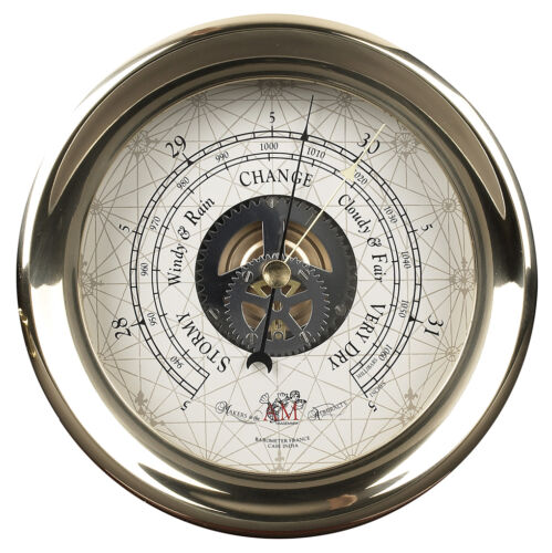Ships Captain's Weather Barometer 7 Brass Nautical Wall Mantle Marine Decor New