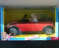 Barbie Ken My Cool Red Mini Cooper..ages 6 Up And Collectors, Mattel W3157