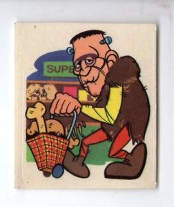 1974-DUNKIN-HIPPY-MONSTERS-STICKER-CARD-8-OF-84-Made-in-Spain-RARE