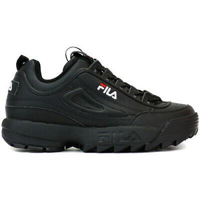 Scarpe da uomo donna Fila Disruptor Low 1010262 12V nero sneakers sportiva pelle | eBay