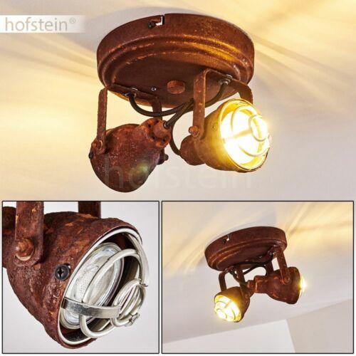 Flur Strahler Vintage Wohn Schlaf Zimmer Beleuchtung Decken Lampen Rostfarben