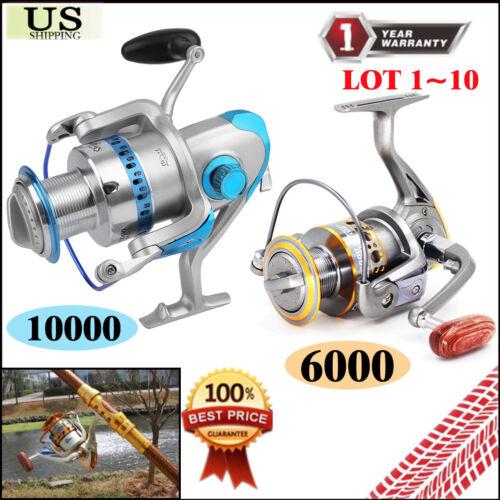 10000 Spinning Reel Saltwater Catfish Surf Fishing Baitfeeder Spare Spool LOT