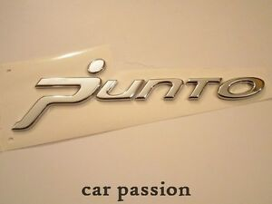 scritta stemma fiat grande punto originale posteriore logo emblem sign argento ebay. Black Bedroom Furniture Sets. Home Design Ideas