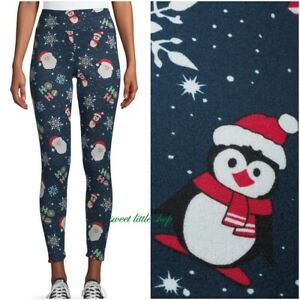 Lot of 2 No Boundaries Ankle Leggings Christmas Small Juniors  Santa Reindeer