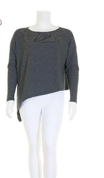 BORIS INDUSTRIES tolles Shirt asymmetrisch Lagenlook Streifen one Größe 44-50