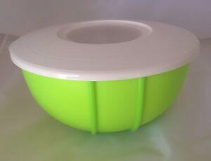 d16 r hrstar 3 0 liter r hrsch ssel mit spritzschutz deckel gr n tupperware ebay. Black Bedroom Furniture Sets. Home Design Ideas