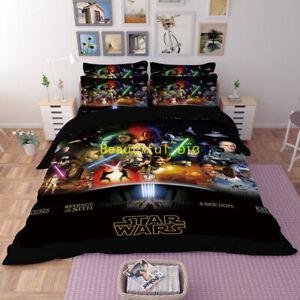 Single-Double-Queen-King-Bed-Doona-Quilt-Duvet-Cover-Set-Star-Wars-Pillowcase