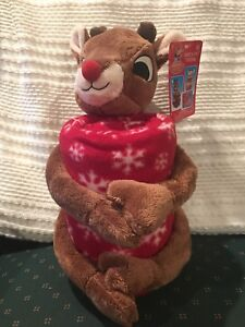 Image is loading Rudolph-the-Red-Nosed-Reindeer-Plush-w-Fleece- 3c46f32c2