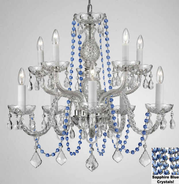 New AUTHENTIC ALL CRYSTAL CHANDELIERS