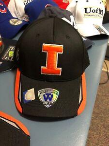 finest selection e3537 14486 Image is loading Illinois-Fighting-Illini-Hat-Cap-Mens-NEW-Black-