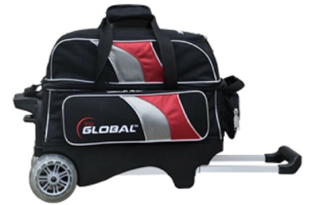 900 Global 2 Ball Bowling Roller Bag With 5 Inch Urethane Wheels New Color